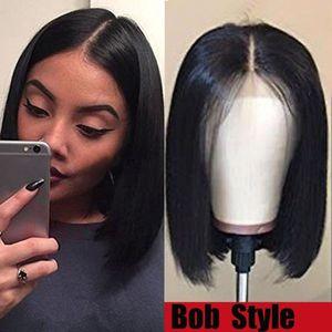 Бесплатная доставка на скидку бразильский девы человеческих волос кружева перед боб натуральный цвет парик