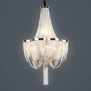 Современные светодиодные лампы Висячие ручной Водопад Люстра Алюминиевые цепи кисточкой Гостиная Столовая Спальня Рядом с подвесной светильник PA0028