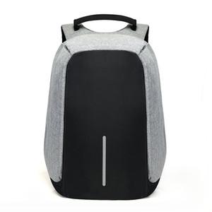 15,6 pulgadas portátil mochila de carga USB antirrobo Mochila Los hombres del recorrido del morral impermeable del bolso de escuela masculina