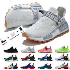 بيع على الانترنت 2020 سباق الإنسان فاريل وليامز الرجال النساء أحذية رياضة الجري حذاء أسود أبيض Primeknit عادية المدرب أحذية رياضية