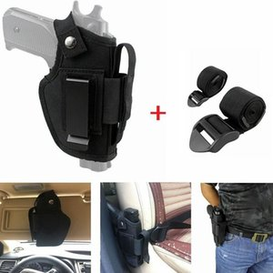Tactical Nylon Gun Holster Concealed Belt Holsters IWB OWB Car Pistol Bag with Magazine Slot and 2 Strap Mounts Gun Accessories