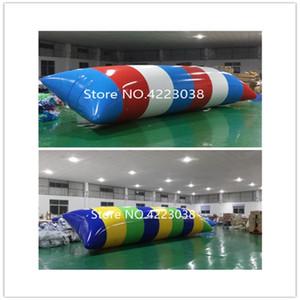 Trasporto libero più nuovo 6x3 m gonfiabile acqua blob jump pillow water blob sacchetto di salto trampolino gonfiabile dell'acqua con una pompa