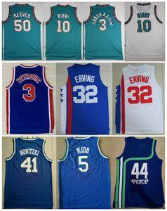 NCAA Vintage 10 Mike Bibby 50 Reeves 3 Abdur Rahim 44 Tabanca Pete Maravich Erving 3 Drazen Petrovic Jason Kidd Nowitzki Basketbol Formalar
