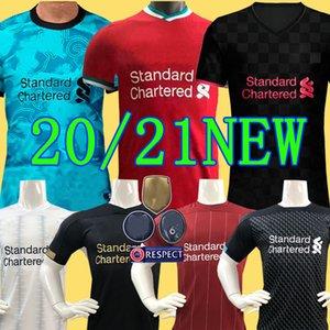 TOP Thailand LVP Mohamed M. SALAH FIRMINO Soccer Jersey Football Shirt 20 21 VIRGIL MANE KEITA 2020 2021 Goalkeeper Men + Kids Kit Uniforms