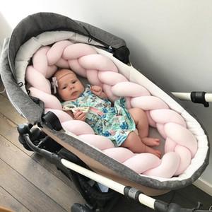 INS 1 M Longueur Bébé Lit En Peluche Collision Coussins Clôture Bébé Lit Décor Pure Tissage En Peluche Noeud Cerceau Bumper Protecteur Infant Room Decor