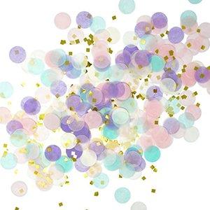 KuChang di carta 1000pcs / bag 1 centimetro Confetti miscela di colore per la decorazione di festa di compleanno di nozze tessuto tondo per palloni chiare