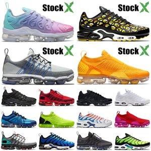 Nike Air Max Vapormax Airmax Tn Plus 3 SE Almofadas de arejamento de alta qualidade Tênis de corrida tamanho 13 Pastel em toda a impressão Preto Moc Mens Womens Trainers Sneakers
