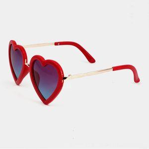 Love Shaped Heart Sunglasses Boy Girl Kids Eyewear Metal Frame Fashion Decoration Children Lovely Sun Glasses UV400 1329YB