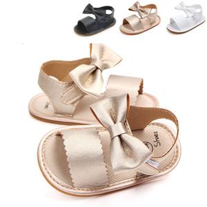 2018 brand new carino neonato neonate bowknot principessa scarpe bambino sandali estivi pu antiscivolo in gomma shoes size 0-18 m