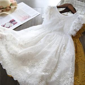 Девушки платье 2019 новый летний бренд детская одежда кружева и цветок дизайн детские девочки платье детские платья для девушки повседневная одежда