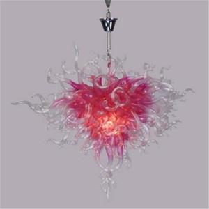Элегантный розовый Люстра Подвеска Свет муранского стекла Подвеска Лампы Рука выдувное стекло люстра свет LED освещение Спальня
