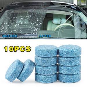 Pára-brisas 10pcs = 40L Car vidro Washer Cleaner Compact efervescente pastilhas de detergente cor aleatória Car ferramenta de beleza
