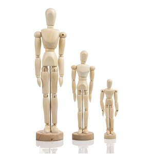 4.5 5.5 8 12 16 inch cartoon wooden puppet toy humanoid art sketch model painting art supplies single piece