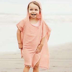 Yeni Yaz Avrupa Bebek Erkek Kız Pelerin Pelerin Çocuk Kapüşonlu Gevşek Panço Çocuk Püsküller Pelerinler W354 Tops