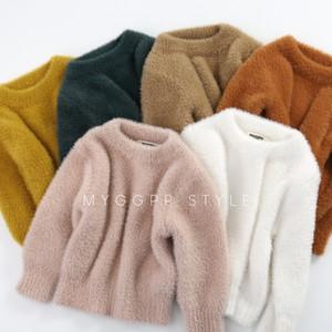 Pulls bébé filles Porter Imitation Mink Pull Automne Hiver chaud manteau en tête 6colors 5size pour 1-3T