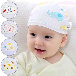 Baby Cap Cartoon Animal Printting Cotton Elastic Beanie Hats For Toddler Boy Girls Spring Autumn Winter Headwear Warm Cute Hat