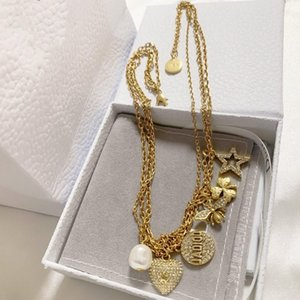 New multi-pingente de amor da abelha designer de moda jóias super versátil simples e personalidade elegante colar desenhador