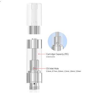VK originale BUDTANK réservoir en céramique Élément de chauffe 10.5mm Diamètre 0,5 / 1,0 ml Capacité des cartouches vides 1.3-1.5ohm 100pcs / mousse de réservoir