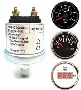Embalagem de 1 New NPT1 / 8 óleo mecânico medidor de pressão Sensores NPT1 / 8 Tópico M10x1 Sensor de 5 Bar 10 Bar Calibre de combustível Pressão