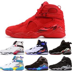 Chegam novas Homens 8 Aqua Branco Sapatos de Basquete 8 s Dos Homens Três turfa Playoff contagem regressiva pacote Chrome Trainer Sports Sneaker Sapatos us 7-13