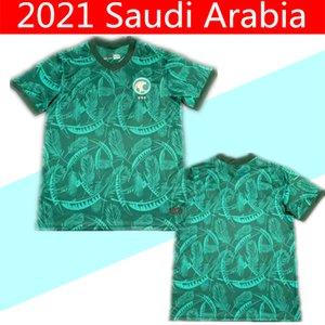 2020 2021 SUUDİ ARABİSTAN Futbol Forma uzakta yeşil 20 21 Suudi Arabistan EDUARDO Botía Futbol Gömlek maillot de foot tayland