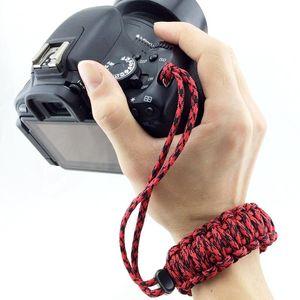 DIY Weave Style Anti-lost Colorful Wrist Strap Grip Emergency Survival Bracelet for DSLR   SLR Cameras, Random Color Delivery