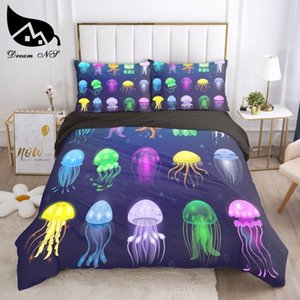Dream NS Colorful Jogo de cama Bedding Home Textiles Set Queen Bedclothes Duvet Cover Marine life Bedding Sets