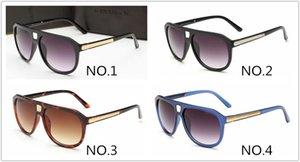 Hommes Brand Lunettes Lunettes de soleil 9018 Tendance de luxe Fashion 4 Nouvelle protection UV Coffret Couleurs avec lunettes Supfj