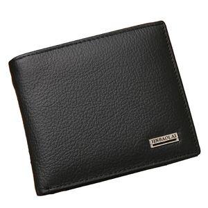 100 % 정품 가죽 남성용 지갑 프리미엄 제품 남성용 짧은 카우 하이드 지갑 Short Black Walet Portefeuille Homme 짧은 지갑