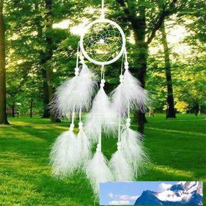 الجملة-1pcs Dreamcatcher India Style Handm Made Dream Catcher Net With Feathers Wind Chimes Hanging Carft هدية لزينة السيارات المنزلية