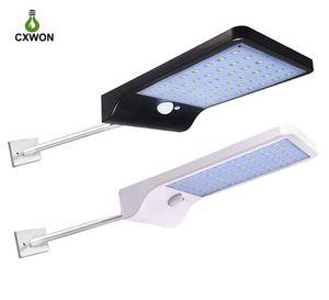 36 LED Solar Lâmpada de parede de 450 Lumen arandela Outdoor iluminação de rua solar Luz Sensor de Movimento para Varanda Porch Driveway Cerca Avenue