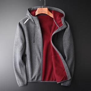 Double-deck Composite Hoodies Men Utumn And Winter Luxury Add Velvet Hooded Sweatshirts Men New Fashion Plus Size M-4XL