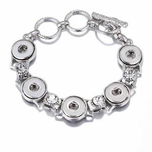 Braccialetto in oro intercambiabile regolabile braccialetto di rame 002 12mm con bottone a pressione bracciale con fibbie per regalo di gioielli da donna