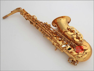 Oro Japón KUNO KAS-902 mi bemol Sax saxofón de oro laca Case y accesorios de boquilla con