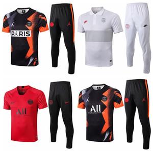 새로운 MBAPPE PSG 검은 색 빨간색 축구 운동복 셔츠 (19) (20)는 티아 품질은 흰색 전체 축구 훈련 정장 저지 세트 2020 LUCAS