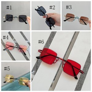Kids Sunglasses Square Metal Frame Girls Eyeglasses Baby Boy Sun Glasses Children Beach Eyewear Fashion Kids Accessories 6 Colors DW5317