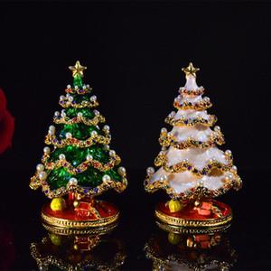 Monili del regalo di Natale metallo Albero di Natale Box di natale della decorazione della casa di caramella di Natale Decorazioni di ornamento 2Colors