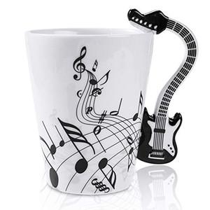 Мода керамическая чашка кофе с ручкой гитара кружка музыка Примечание кружка гитара подарок для друга отец мать 400 мл
