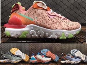 Nike Reagire Vision Mens scarpe da corsa scarpe da ginnastica nere IRIDESCENTE Hyper Blu Honeycomb VAST GRIGIO womens allenatori sportivi all'aperto traspirante luce 45
