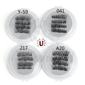 1 Unidades Cobertura completa Pestañas postizas magnéticas triples Cruz suave Largo Hecho a mano Imán Pestañas Extensión de belleza Herramientas de maquillaje