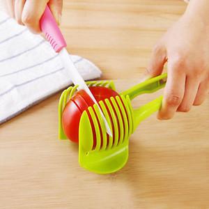 Schnell New 1Pc Kartoffel Lebensmittel Tomate, Zwiebel, Zitrone, Gemüse, Obst Slicer Ei schälen Messerhalter