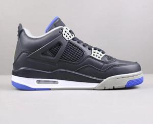 Navio Com Caixa de 4 Jogo Preto Royal Matte Homem De Prata Designer de Sapatos de Basquete Clássico IV Alternate Motorsports Moda Sneakers Boa Qualidade
