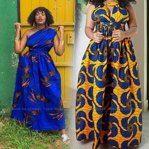 Женщины Африканской Одежды Bohemian печать юбка Boho стиль Широких костюмы Leg Комбинезон мода Базен Riche Кенг платье карнавал партия