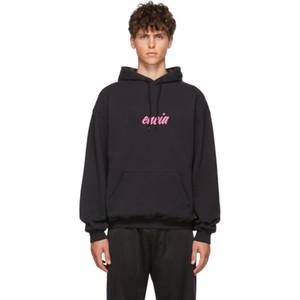 19FW Klasik Pembe Logo Baskılı Hoodies Sweatshirt Moda Casual Katı Kapşonlu Kazak İlkbahar Sonbahar Kış Sokak Hoodie Triko HFYMWY296