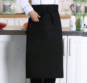 Половина талии Фартук для плита кафе сервер официантка официантка кухня кулинария отель шеф-повар фартуки шеф-повар униформа талии фартук