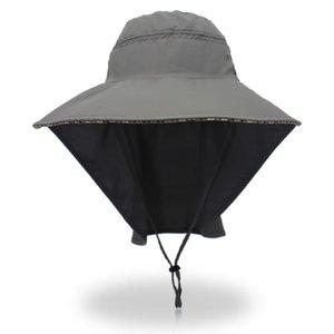2020 Nueva borde ancho del sombrero del cubo que va de excursión Parasol Sombrero Pesca Viajar Bonnie con tapas de correas ajustables deportes para hombre