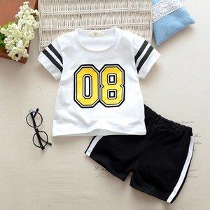 DAILOU летняя детская одежда спортивные костюмы Детская одежда повседневная хлопок Baby Boy одежда милый мультфильм Малыш девушки одежда 2020
