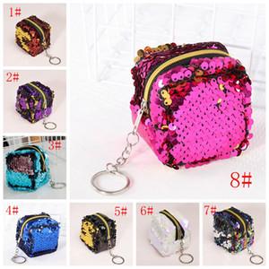 Площадь Pink Портмоне кошелек моды пришивания Мини Кошелек для женщин Дети девушки Малый кошелек сумка Клатч Кошельки оптом VT0818