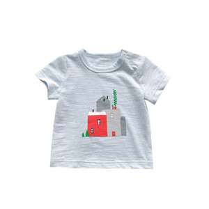 2020 Summer Baby Boys T Shirt Cartoon House Print Short-Sleeve