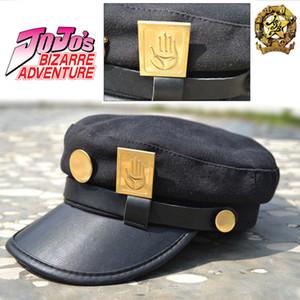 Anime JoJos Bizarre Adventure Cosplay Cap Jotaro Kujo Giuseppe Cappello Army jojos cappelli Animazione Badge Intorno Props